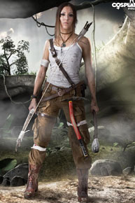 Anne cosplays Lara Croft